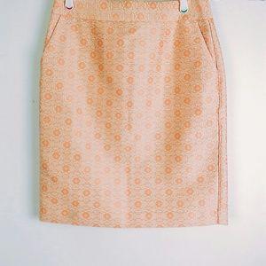 Banana Republic | Peach Coral pencil skirt size 8